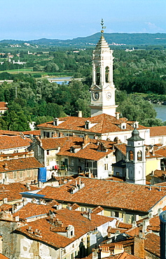 Overview of Ivrea, Piedmont, Italy