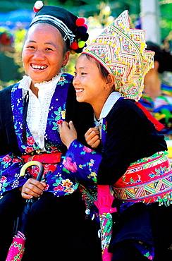 Hmong women, Luang Prabang, Laos