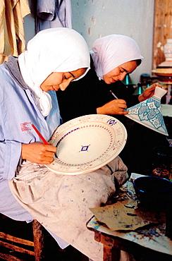 Pottery artisans at the potters' quarter, Safi, Atlantic coast, Morocco