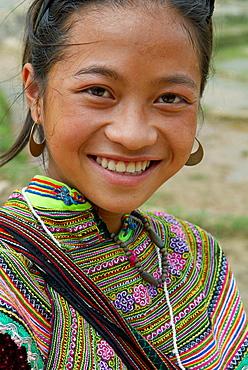 Vietnam, North Vietnam, Sapa area, Flower Hmong.