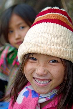 Vietnam, North Vietnam, Bac Ha area, Ban Pho village, Flower Hmong ethnic group.