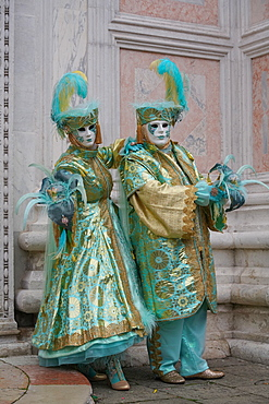 Masks at the Venice Carnival, Venice, Veneto, Italy, Europe