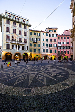 Piazza Caprera, Santa Margherita Ligure, Genova, Liguria, Italy, Europe