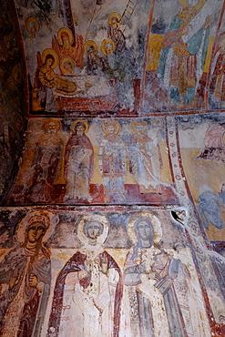 The 17th century frescoes of the Monastery of Theoktistis, Ikaria, North Aegean Islands, Greek Islands, Greece, Europe