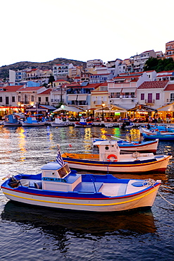 The port of Pythagorio, Samos Island, North Aegean Islands, Greek Islands, Greece, Europe