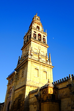 The bell tower of the Mezquita Cathedral, UNESCO World Heritage Site, Cordoba, Andalucia, Spain, Europe