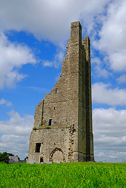 Yellow Steeple, the ruin of the St. Mary's Abbey bell tower, Trim, County Meath, Leinster, Republic of Ireland, Europe