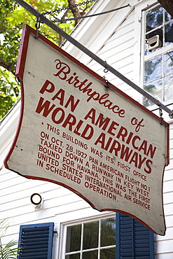 Sign for Pan American Airways in Key West, Florida, United States of America, North America