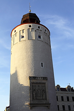 The Fat Tower (Frauenturm) (Dicke Turm), part of the medieval city defences in Goerlitz, Saxony, Germany, Europe