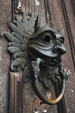 The Sanctuary Knocker, which people knocked on for asylum in medieval times, Durham Cathedral, UNESCO World Heritage Site, Durham, England, United Kingdom, Europe