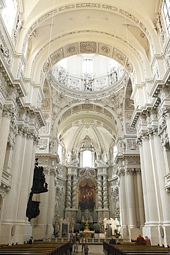 Late Baroque style altar, St. Kajetan Church (Theatinerkirche) (Theatiner Church), Odeonsplatz, Munich, Bavaria, Germany, Europe