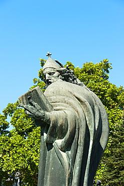 Gregorius of Nin statue, Split, region of Dalmatia, Croatia, Europe