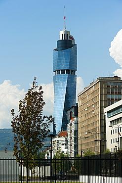 Avaz Twist Tower, headquarters of the newspaper Dnevni Avaz, Sarajevo, Bosnia and Herzegovina, Europe