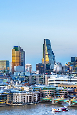 Skyline of the City of London, Tower 42, formerly Nat West Tower, and the Cheesegrater, London, England, United Kingdom, Europe