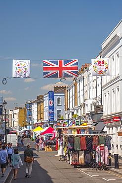 Portobello Market, Portobello Road, Kensington and Chelsea, London, England, United Kingdom, Europe