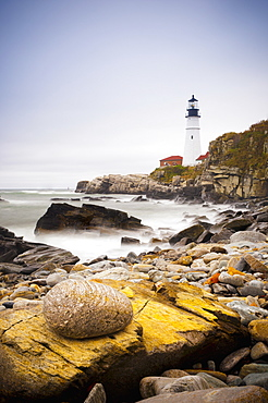 Portland Head Lighthouse, Portland, Maine,New England, United States of America, North America