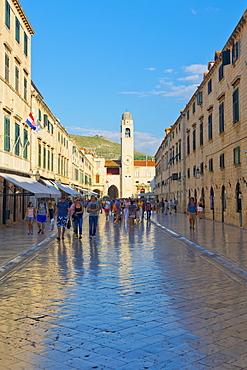 The Stradun, UNESCO World Heritage Site, Dubrovnik, Croatia, Europe