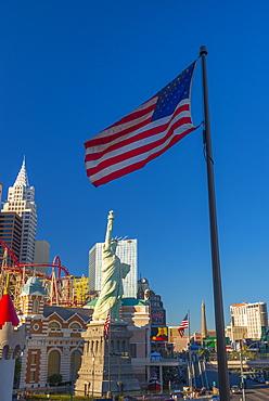 Statue of Liberty, New York New York Hotel and Casino, Las Vegas, Nevada, United States of America, North America