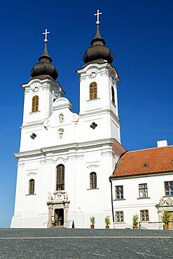 Benedictine Abbey on Tihany peninsula along the shores of Lake Balaton, Hungary, Europe