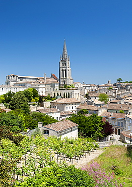St.-Emilion village in the Gironde department of the Aquitaine region in southwestern France, Europe