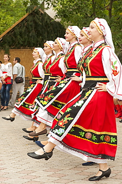 Women dancing during Independence Day festivities in Tiraspol, Transnistria, Moldova, Europe