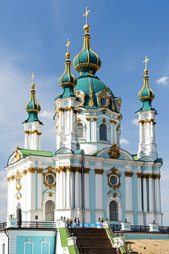 St. Andrew's Church in Kiev, the capital of Ukraine, Europe