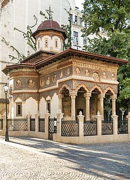 Stavropoleos Monastery (Stavropoleos Church) in Bucharest, Romania, Europe