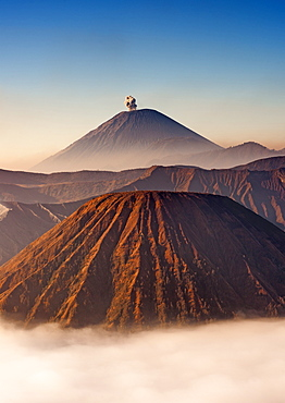 Gunung Semeru, an active stratovolcano in Bromo Tengger Semeru National Park, Java, Indonesia.