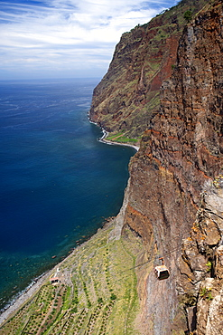 The cliffs of Cabo Girao on the island of Madeira.