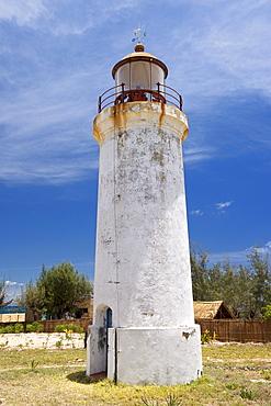 The Barra beach lighthouse near Inhambane in southern Mozambique.
