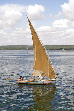 Dhow on the Inhambane estuary in Mozambique.