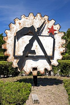 Soviet-era monument in the town of Inhambane in Mozambique.