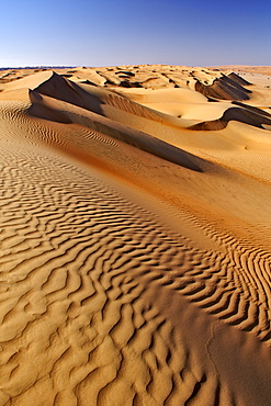 The dunes of Wahiba Sands (Ramlat al Wahaybah) in Oman.