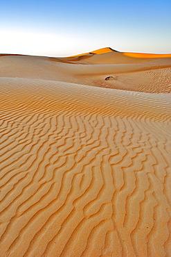 Dawn over Wahiba Sands (Ramlat al Wahaybah) in Oman.