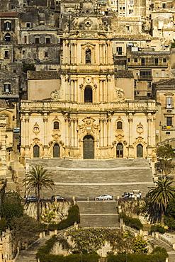Duomo San Giorgio in Modica, a town famed for Sicilian Baroque architecture, UNESCO World Heritage Site, Modica, Ragusa Province, Sicily, Italy, Mediterranean, Europe