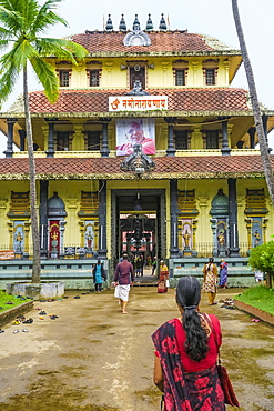 Tirumala Devaswom 16th century temple of the Gowda Saraswat Brahmins that worship Venkateswara, Cherlai, Kochi (Cochin), Kerala, India, Asia