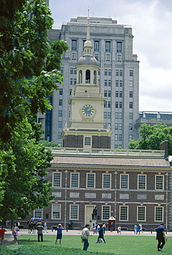 Independence Hall, site of the signing of the Declaration of Independence, Philadelphia, Pennsylvania, United States of America (U.S.A.), North America