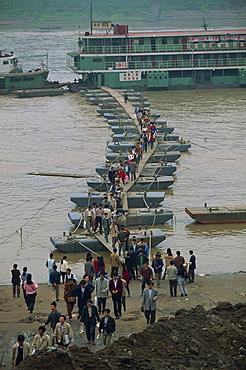 Pontoon dock for ferries, Chongqing, Sichuan, China, Asia