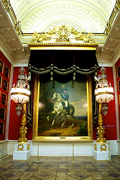 Portrait of Alexander I by Franz Kruger painted in 1837, 1812 War Gallery, Winter Palace, Hermitage Museum, St. Petersburg, Russia, Europe