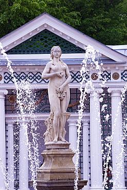 Eve Fountain, Peterhof gardens in summer, Petrodvorets, St. Petersburg, Russia, Europe