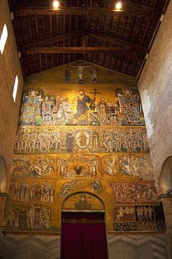 Domesday mosaics of the Last Judgement, dating from the 12th century Byzantine period, Cathedral of Santa Maria Assunta (Duomo Santa Maria dell'Assunta), Torcello Island, Venice Lagoon, UNESCO World Heritage Site, Veneto, Italy, Europe