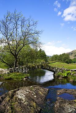 Slater's Bridge, Little Langdale, Lake District National Park, Cumbria, England, United Kingdom, Europe