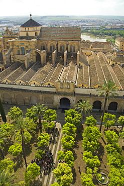 Exterior of Mezquita (Great Mosque), UNESCO World Heritage Site, Cordoba, Andalucia, Spain, Europe