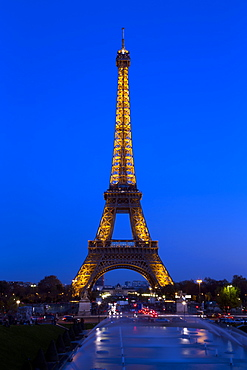 Eiffel Tower in the evening, Paris, France, Europe