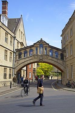 Bridge of Sighs, Hertford College, New College Lane, Oxford University, Oxford, Oxfordshire, England, United Kingdom, Europe