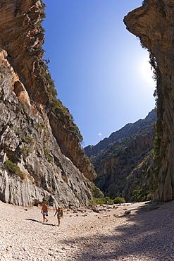 Torrent de Pareis Gorge, Sa Calobra, northern Majorca, Balearic Islands, Spain, Europe