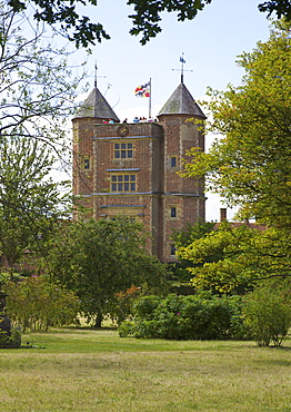 Elizabethan Tower at Sissinghurst Castle, Sissinghurst, Kent, England, United Kingdom, Europe