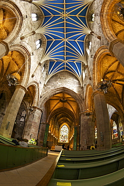 Nave, St. Giles Cathedral, Old town, Edinburgh, Scotland, United Kingdom, Europe