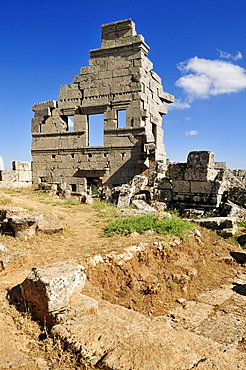 Byzantine ruin at the archeological site of Serjilla, Dead Cities, Syria, Middle East, West Asia