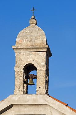 Bell tower, Lubenice, Cres island, Croatia, Europe